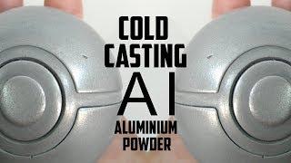 Cold casting a Pokeball with aluminium powder