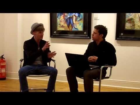 Intentist interview with painter Stuart McAlpine Miller at Hay Hill Gallery, Cork Street, London