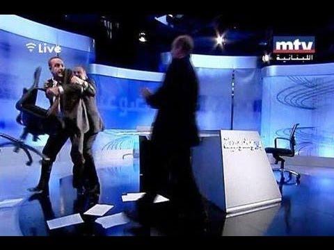 Politicians Fight on Live TV in Lebanon!