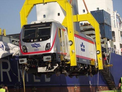 Bombardier Traxx  Israel Railways-קטר חשמלי ראשון טראקס בומברדייה רכבת ישראל 3003