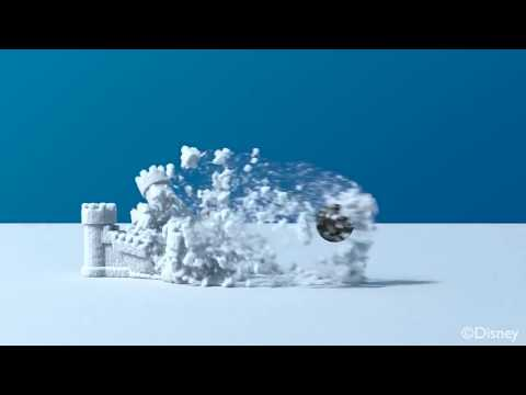 Frozen - A Material Point Method For Snow Simulation (2013) - Advanced CGI snow animation (HD)