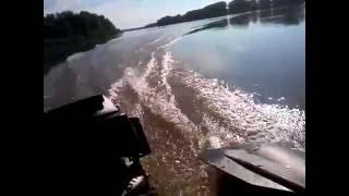 Лодочный мотор гибрид ветерок + чемпион испытание