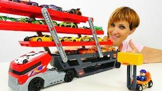 ХОТ ВИЛС (Hot Wheels) машинки и АВТОВОЗ 🚗РАСПАКОВКА игрушек с Машей Капуки Кануки. ПОЛНЫЙ ПОРЯДОК 5⃣