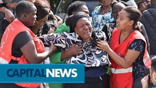 Emotional scene at Chiromo Mortuary as relatives of Riverside attack victims search for loved ones