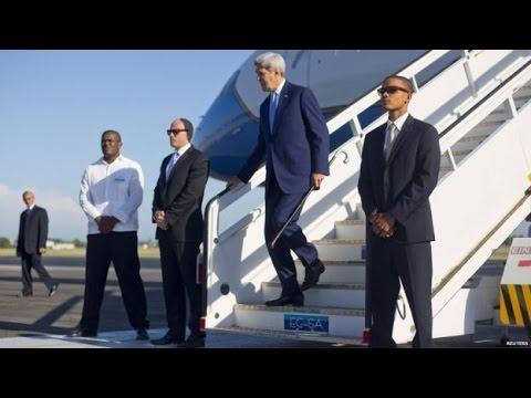 USA Secretary John Kerry arrived in Rwanda for Climate Change Summit.