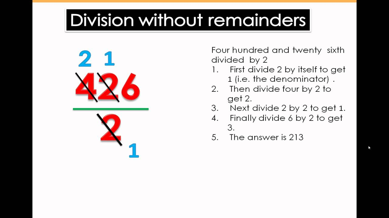 Division Without Remainders - Math Tutorial 4th \u0026 5th Grade Math - YouTube [ 720 x 1280 Pixel ]