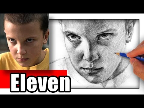 How to Draw Eleven from Stranger Things - Millie Bobby Brown