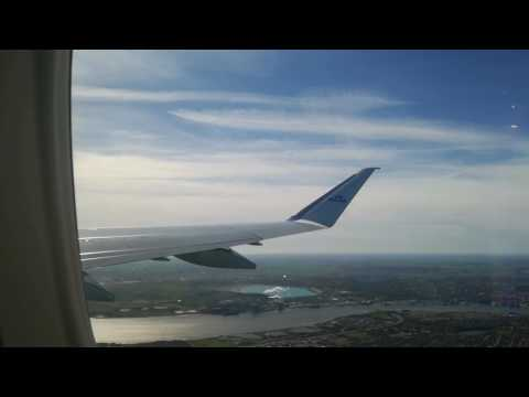 Klm flight 1333 take off from Aalborg airport to Amsterdam airport emj 175