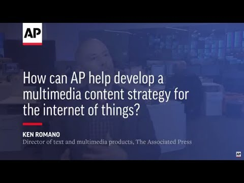 How can AP help develop a multimedia content strategy for the internet of things?