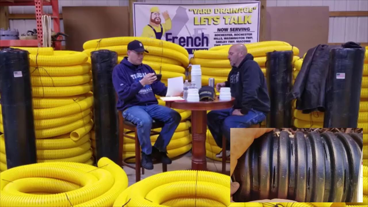 Yellow French Drain Man Pipe & Non-woven Geotextile Fabric ON SALE NOW!