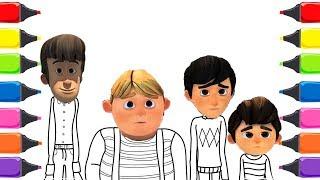 Rafadan Tayfa Çizgi Filmi Beş Küçük Maymun Renkleri Öğreniyorum Çocuk Şarkısı 2