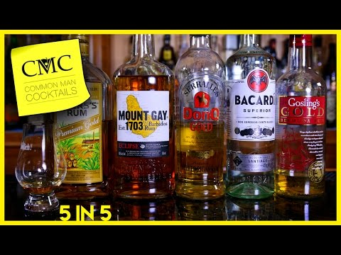 ⏰  5 Rum Reviews In 5 Minutes: Gosling's, Bacardi, Don Q, Mount Gay  & Myers's