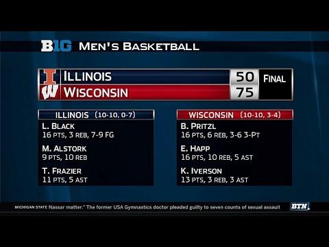 Illinois at Wisconsin - Men's Basketball Highlights