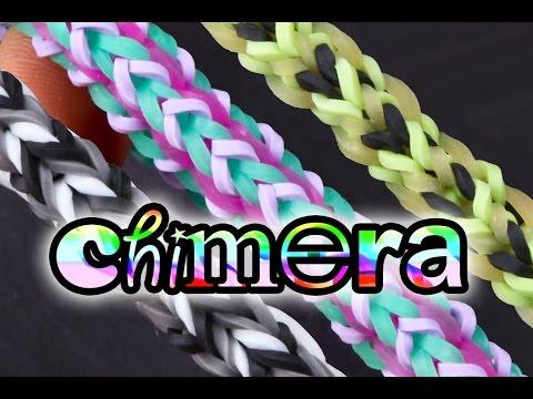 Chimera Bracelet Tutorial - Regular, Tribal and Inverted Variations - Rainbow Loom Bracelet