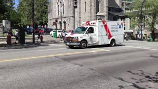 Responding Advanced Life Support Unit Ambulance in Vancouver, Canada
