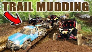TOWING THROUGH MUDDY TRAILS & RIPPING THE TOYS FOR THANKSGIVING SPECIAL   FARMING SIMULATOR 2017