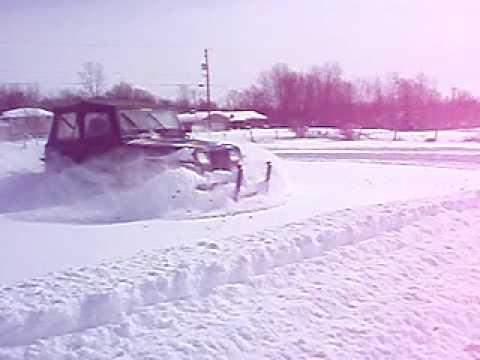 Deep snow driving NE ohio Jeep fun