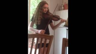 Julia practicing for NYSSMA