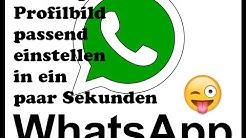 whatsapp Profilbild, jedes Foto mit richtiger Größe