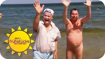 Weniger nackte am FKK-Strand | SAT.1 Frühstücksfernsehen