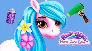 Fun Pony Horse Care - Pony Girls Animal Resort Hair Salon Dress Up Makeover