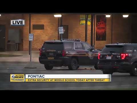 Extra security at Pontiac middle school today after threat