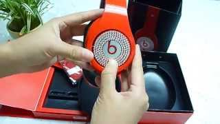 Monster Beats By Dr Dre Studio Red Headphone  With Diamonds