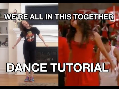 """We're All In This Together"" Dance Tutorial (High School Musical)"