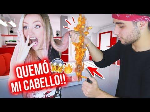 TRUCOS RAROS DE MAGIA CON FUEGO!!🔥 ¡¡QUEMÓ MI CABELLO!! | Katie Angel