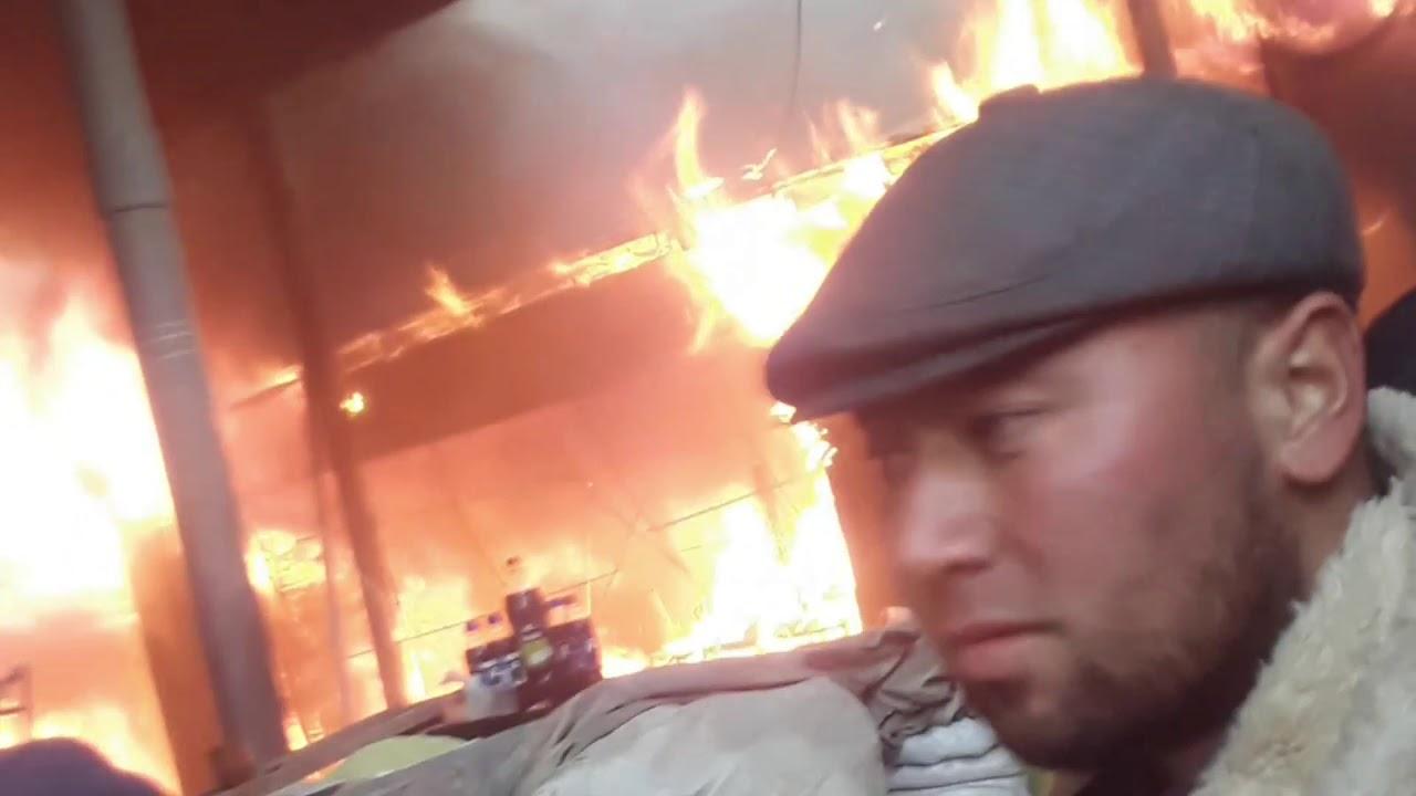 СРОЧНО! Пожар в центральном рынке г. Турсунзаде  (ВИДЕО)