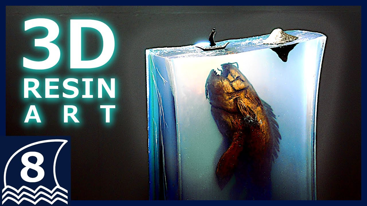 DIY. Making beautiful and perfect paintings 3-D with resin art [ Diorama / thalassophobia ]