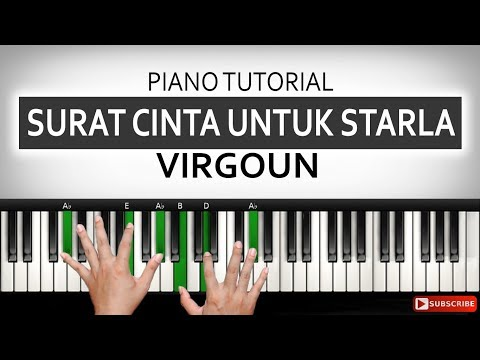Belajar Piano SURAT CINTA UNTUK STARLA - Virgoun | Part 1 | Belajar Piano Keyboard