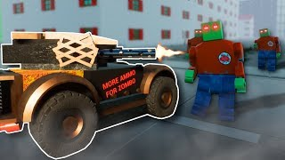DEFENDING LEGO CITY FROM ZOMBIES! - Brick Rigs Multiplayer Gameplay - Zombie Apocalypse Survival