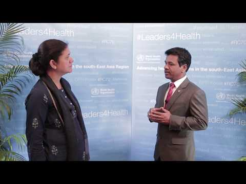 Mr Ibrahim, Min. of Health, Maldives, on building health systems resilience to climate change