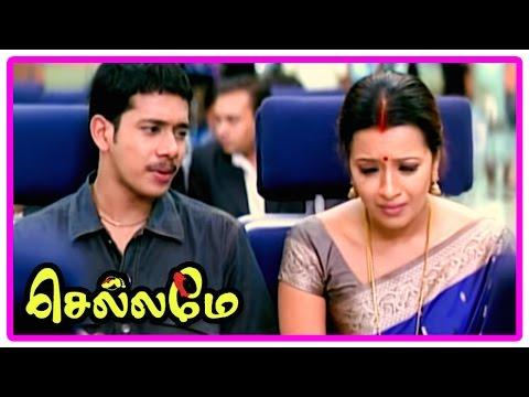 Chellame movie scenes | Bharath lies and kidnaps Reema Sen | Vishal to find Reema missing