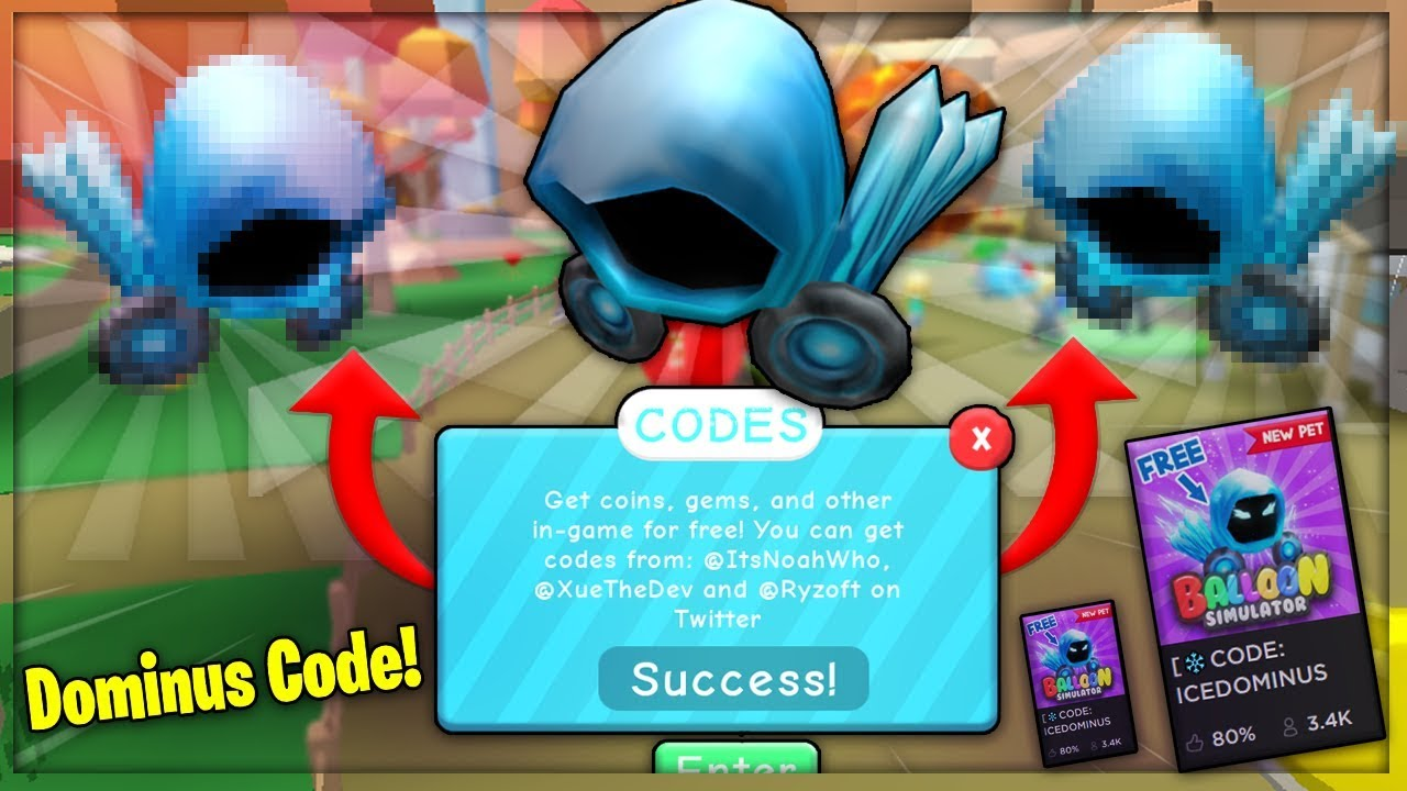 How To Get A Free Ice Dominus Pet Code 2019 Roblox Youtube