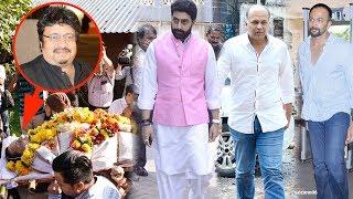 Bollywood Celebs At Hera Pheri Director Neeraj Vora's Final Rites Ceremony | Abhishek, Rohit,Paresh