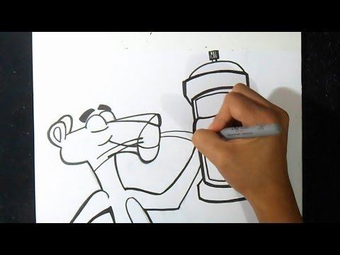 Como Desenhar Pantera Cor De Rosa Youtube
