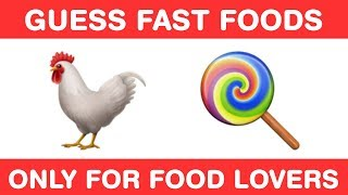 Guess Top 15 Fast Foods from Emojis!!! Pizza Burger Challenge for Foodies