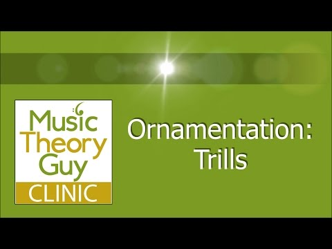 Clinic: Ornamentation - Trills