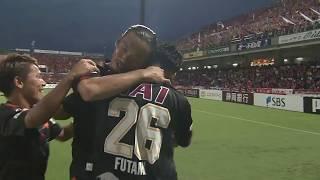 角田 誠(清水)が右サイドからのCKを頭で合わせ、シーズン初得点を獲得...