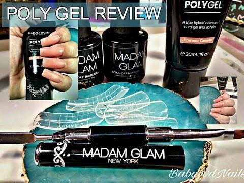 Madam Glam's Poly Gel Complete Review & Tutorial Using Dual Forms & Gel Brush (BOTH WAYS)!!!