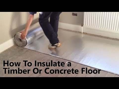 How to Insulate a floor to prevent Cold from below with