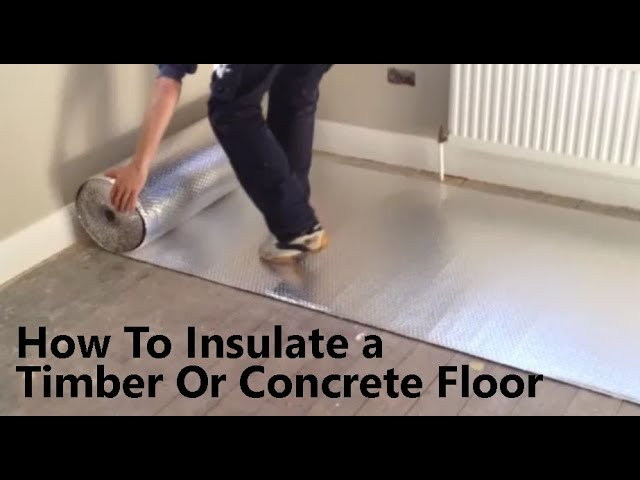 How To Insulate A Floor Prevent Cold, Best Underlay For Laminate Flooring On Concrete Uk