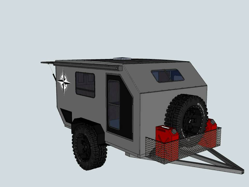 Teardrop Offroad Trailer Prototype2avi