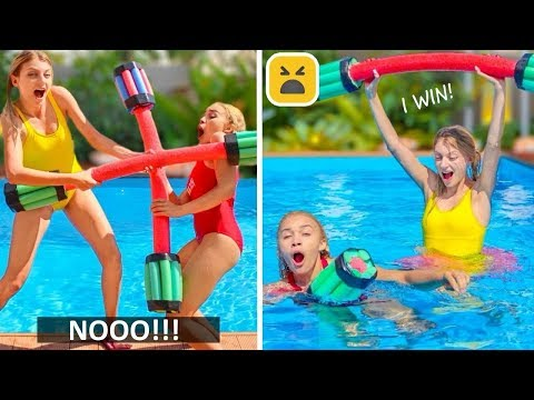 10 Amazing Pool Hacks and Games! More Summer DIY Ideas
