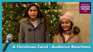 A Christmas Carol | Audience reactions on Covid safety regulations | #BackOnStage