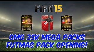 OMG 35K Mega Packs! FIFA 15 Futmas Pack Opening Hunting IF Cazorla IF Benatia FUT 15 Pack Opening