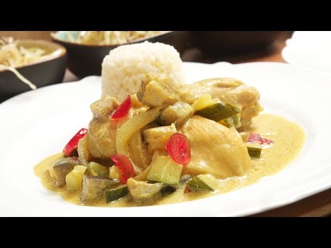 Hähnchen Curry dazu Gemüse und Reis - Rezept für Hähnchengeschnetzeltes vom Chefkoch Thomas Sixt