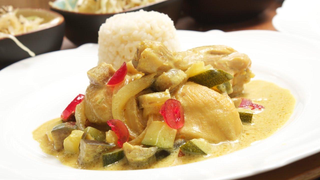 hähnchen curry reis rezept